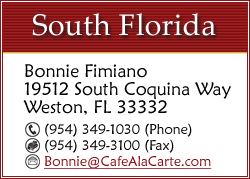 CLICK TO EMAIL BONNIE FIMIANO FOR SOUTH FLORIDA EVENTS...