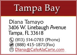 CLICK TO EMAIL DIANA TAMAYO FOR TAMPA BAY AREA EVENTS...