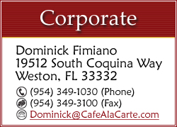 CLICK TO EMAIL DOMINICK FIMIANO AT THE CORPORATE OFFICE...
